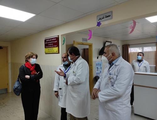 مستشفى الرنتيسي يطلع وفد منظمة الصحة العالمية على نظامه الصحي