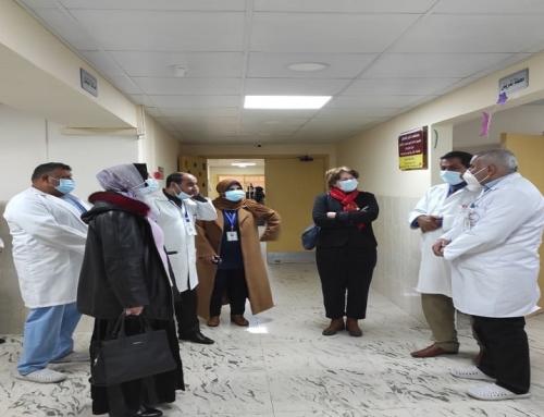 مستشفى النصر للأطفال يستقبل وفدا من منظمة الصحة العالمية W.H.O