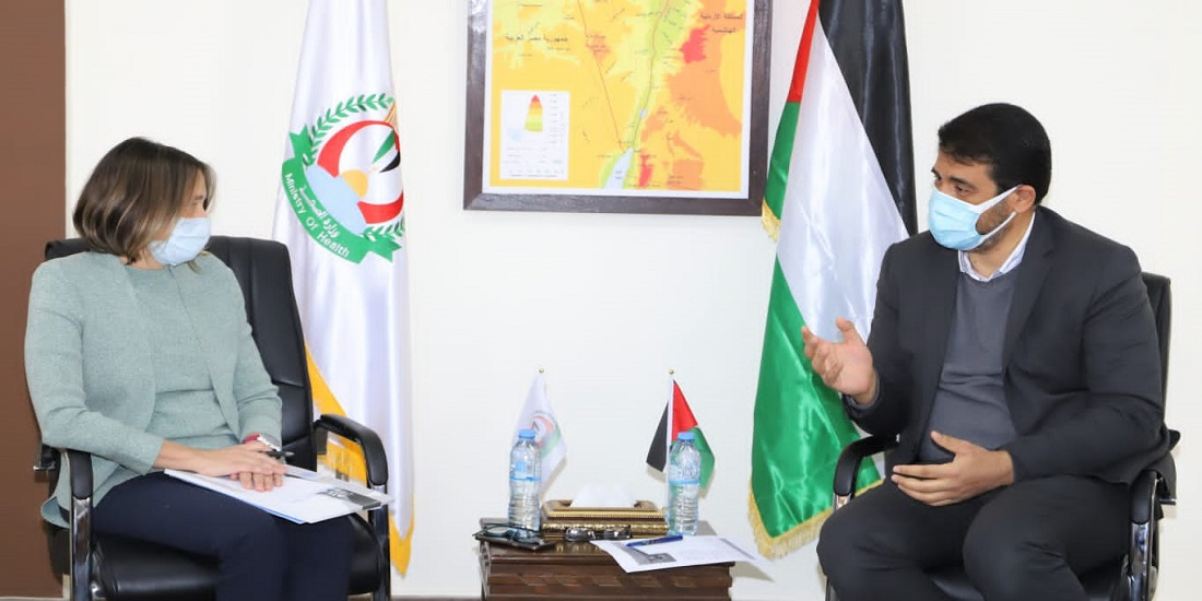 Dr. Abu Al-Rish receives the UN Deputy Special Coordinator for Humanitarian Affairs in the Occupied Palestinian Territories