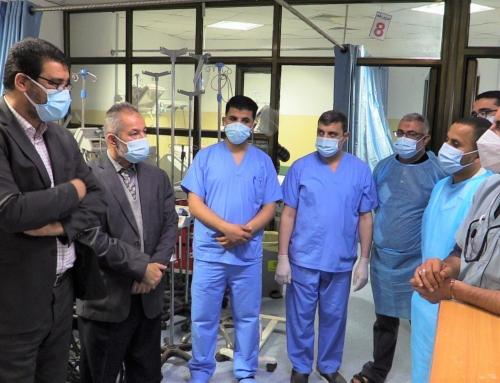 وكيل وزارة الصحة د.يوسف أبو الريش يتفقد مستشفى بيت حانون والمستشفى الأندونيسي لمتابعة الخدمات المقدمة في مواجهة جائحة كوفيد 19