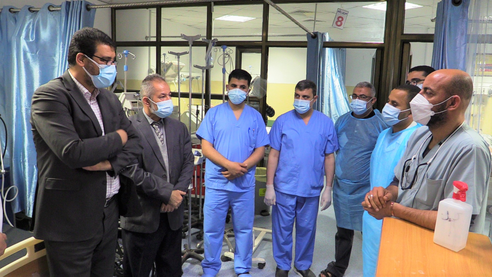 Dr. Yousef Abu Al-Rish visits a number of  COVID-19 hospitals in Gaza