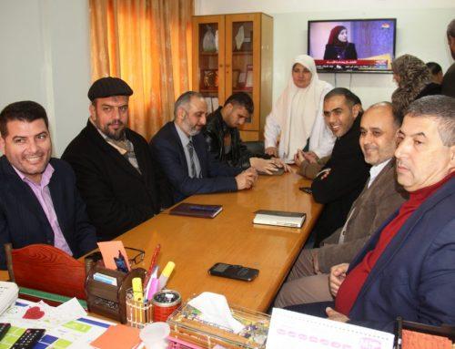 وفد الإدارة العامة للشئون الإدارية والمالية  يطلع على احتياجات مستشفى بيت حانون