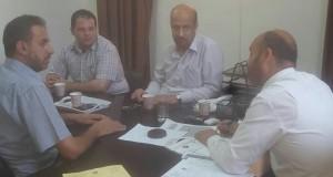 مخالفات الاغذية تتصدر اللقاء الذي جمع بين الادارة العامة للشؤون القانونية برئيس نيابة غزة الكلية