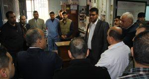 د. أبو الريش يكرم مستشفى الجراحة في مجمع الشفاء الطبي