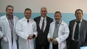 مستشفى العيون يستقبل مدير مركز غزة لطب وجراحة العيون