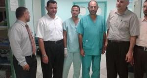 إدارة مستشفى النجار تقوم بجولة معايدة على الموظفين
