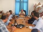 مستشفى شهداء الأقصى تستقبل قيادة شرطة المحافظة الوسطى