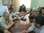 المدير الاداري لمستشفى النجار يعقد اجتماع طوارىء مع رؤساء الاقسام