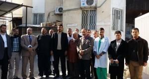 وكيل وزارة الصحة يزور مستشفى النجار برفقة مدير عام المستشفيات