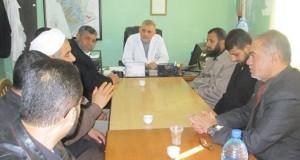 مديرية أوقاف رفح تشارك في حملة النظافة بمستشفى النجار برفح
