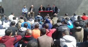مستشفى النجار تقوم بعمل حملة توعية صحية للنزلاء والمساجين بنظارة رفح