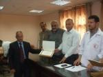 عقد لقاء مفتوح بين موظفي مستشفى شهداء الأقصى وإدارة المستشفى